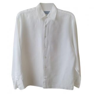 Gieves & Hawkes Men's White linen Shirt