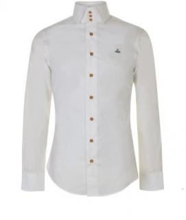 Vivienne Westwood White Button Down Embroidered Shirt