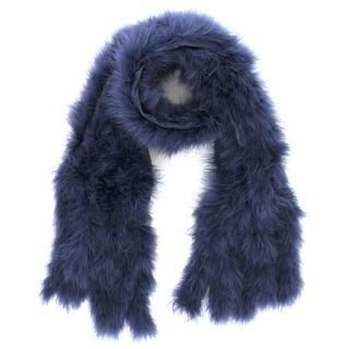 Detlef Mandel Avantgarde Deep Blue Feather Scarf