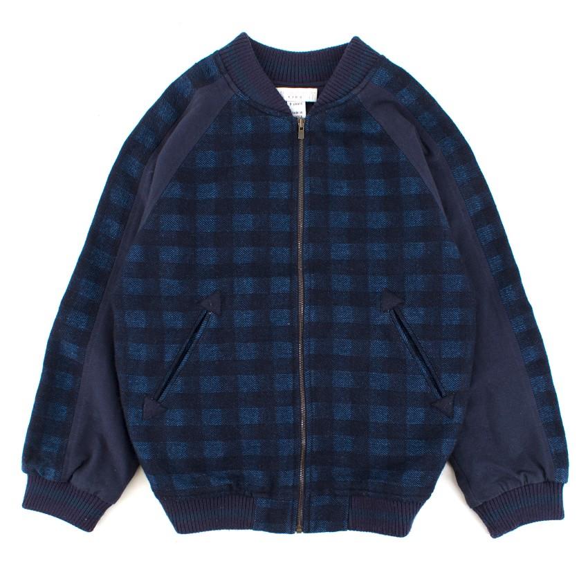 7271b6e29 Stella McCartney Checked Wool-blend Bomber Jacket