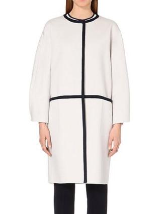 Max Mara Natural Savona Wool And Angorablend Coat159090  2356a79521b
