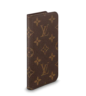 newest collection 60b09 4af60 Louis Vuitton iPhone X & XS Folio Monogram Canvas Phone Case
