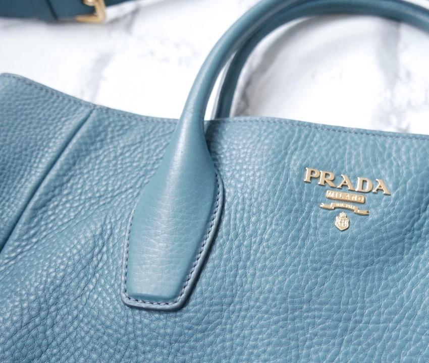 33c20fe70184 Prada Vitello Daino Marine Blue Pebbled Leather Tote Bag. 29. 12345678910