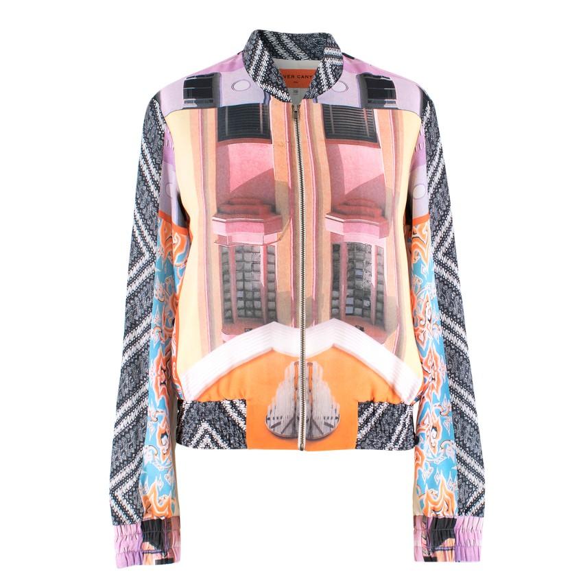 Clover Canyon Abstract Print Bomber Jacket