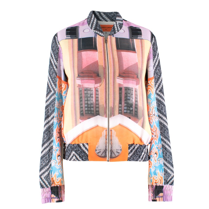 Clover Canyon Abstract Print Bomber Jacket