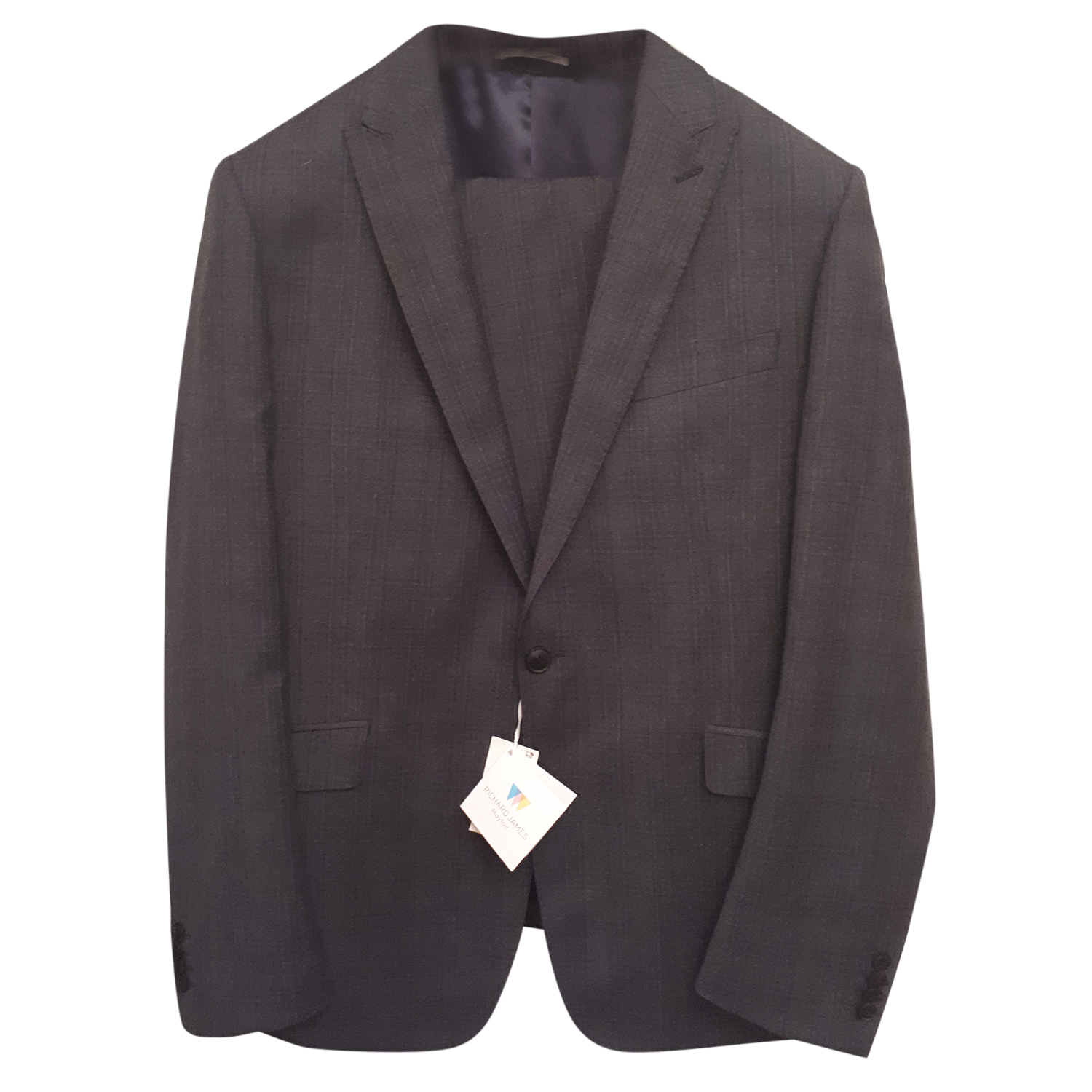 Richard James wool check suit