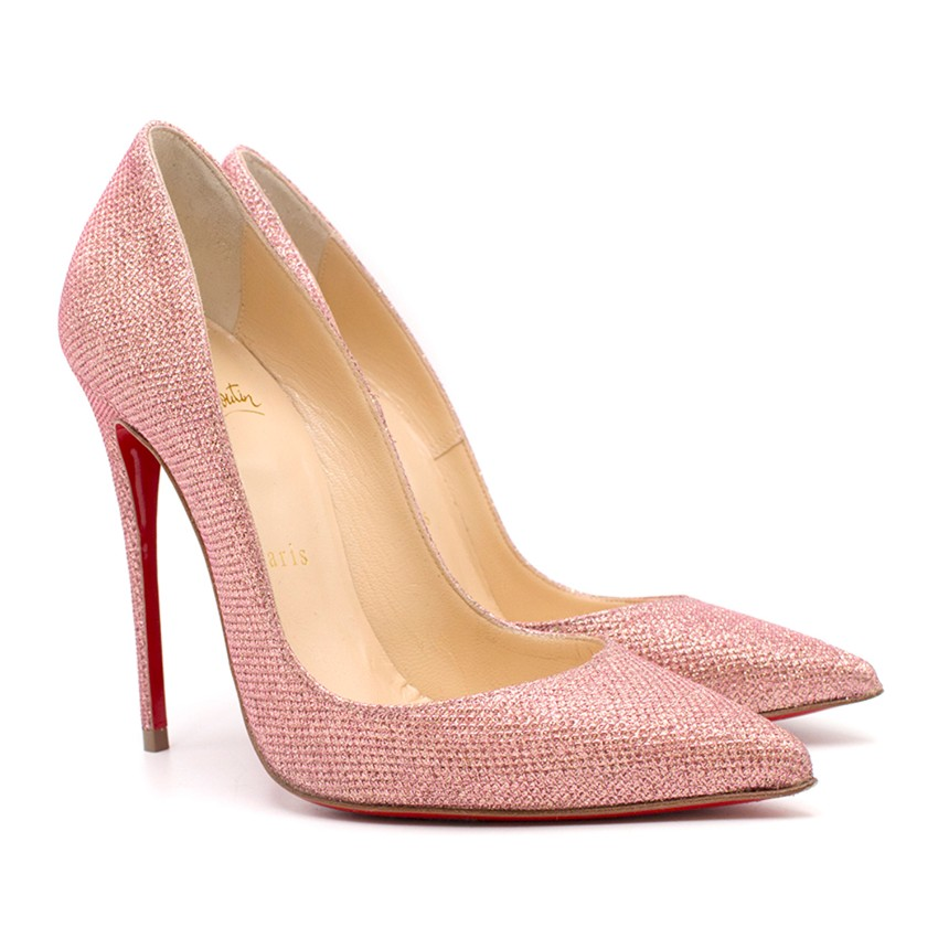 new concept f553c 55fa1 Christian Louboutin Pink So Kate Poudre Glitter Pumps