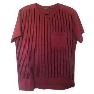 Christopher Kane Men's Velvet Stripe T-Shirt