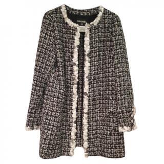 Chanel Black & White Tweed Boucle Jacket