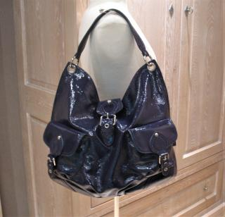 Moschino Purple Hobo Tote Bag
