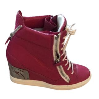 Giuseppe Zanotti concealed wedge high top trainers