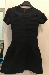 Maje black fit and flare dress