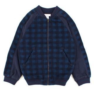 Stella McCartney Checked Wool-blend Bomber Jacket