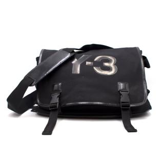 Y-3 x Adidas Black Logo Messenger Bag