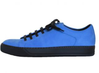 Lanvin nubuck calfskin low-top sneakers