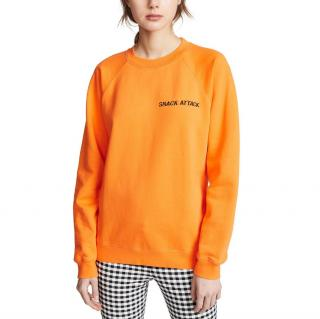 Ganni Orange Snack Attack Sweatshirt