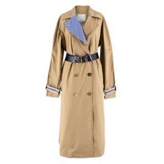 Tibi Brown Belted Trench Coat