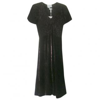 Max Mara Bordeaux Velvet Dress