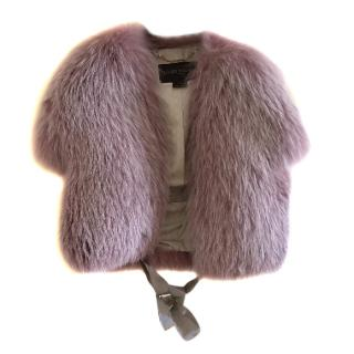 Louis Vuitton fox fur short coat