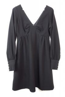 Tibi Black Mini Dress