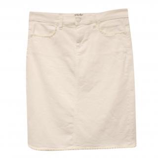 Riani White Denim Skirt