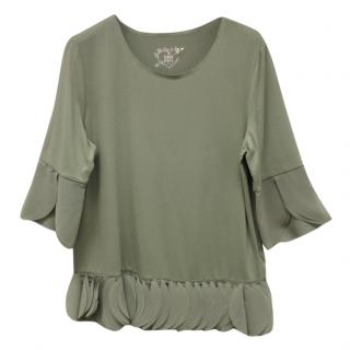 45428d3f72a1 Riani Green Feathered T-shirt