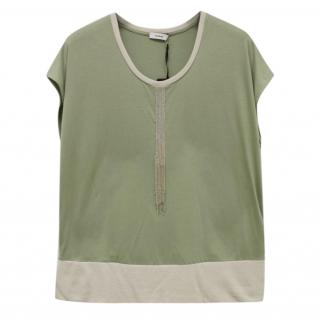 Riani Bead Embellished Green T-shirt