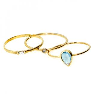 Loren Stewart 14K Gold Stacking Rings