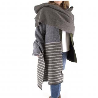 Brunello Cucinelli Mohair, Alpaca & Cashmere XL Striped Shawl