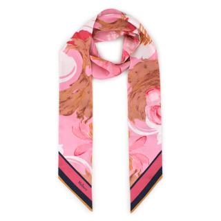 Mulberry SS19 Exclusive Pink Abstract Patterned Silk Neck Tie