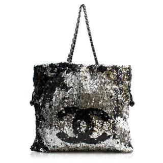 Chanel Summer Nights Sequin Drawstring Tote Bag