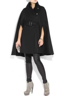 Alexander Mcqueen grey wool belted cape coat