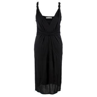 D Exterior Black Ruched Dress