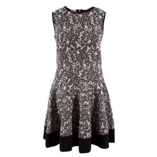 Mrz Jaquard Floral Wool Dress