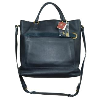 Loro Piana Navy Shoulder Bag