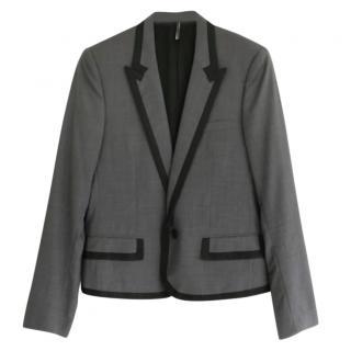 Dior Homme by Hedi Slimane Grey Braid Trim Shrunken Jacket