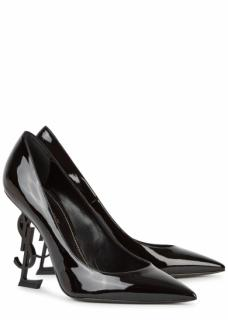 Saint Laurent Opyum Pump in Patent Leather with Black Heel