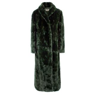 Alberta Ferretti Emerald Faux Fur Coat
