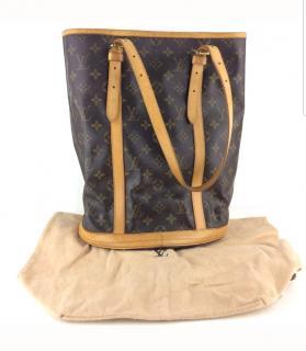 LOUIS VUITTON monogram bucket tote bag w/dustbag