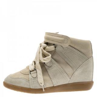 Isabel Marant Suede Wedge Sneaker
