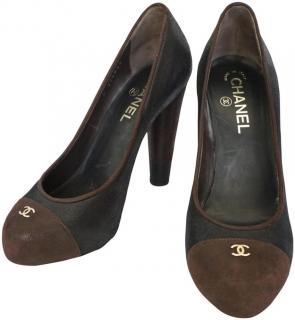 Chanel Leather Bi-Colour Pumps