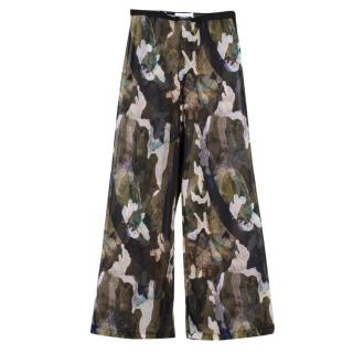 Nessi Byrd Sheer Abstract Camo Beach Trousers