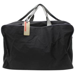 Prada Black Nylon Boston Bag