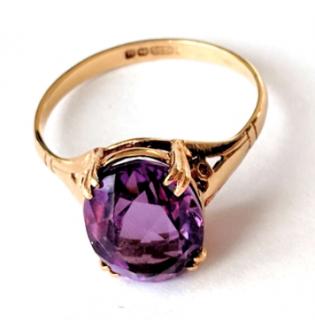 Vintage Bespoke Gold & Amethyst Ring