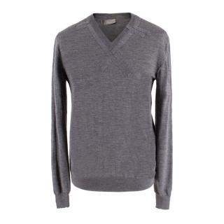 Dior Grey Lightweight Wool Jumper