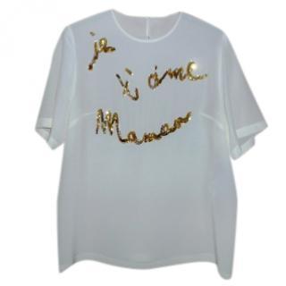 Dolce & Gabbana silk 'Je T'aime Maman' Top