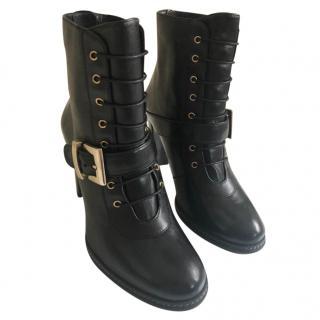 Stuart Weitzman Buckled Ankle Boots
