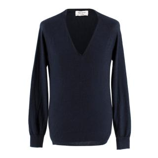 Yves Saint Laurent Navy Cashmere Jumper