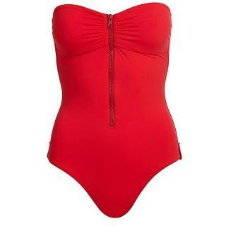 Melissa Odabash Ruched Bandeau Swimsuit