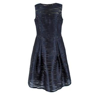 Caroline Herrera Blue Striped Dress
